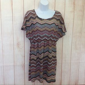 Ice Fashion Loose Top Short Multi Colored Dress